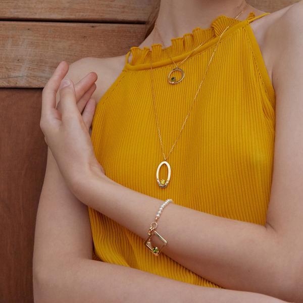 마티아스 Oval candy Necklace - Gold