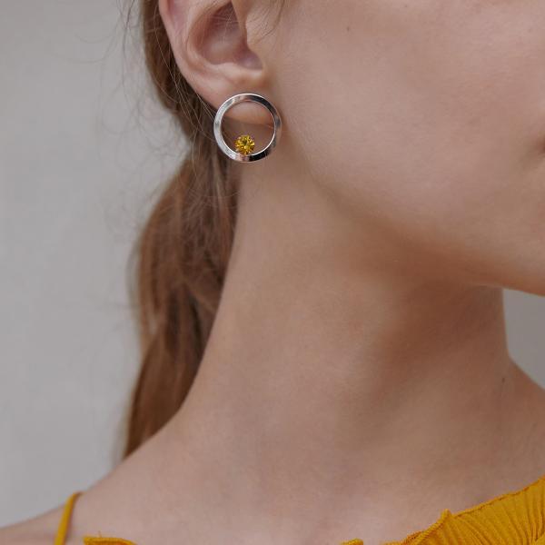 마티아스 Round candy Earring - Silver