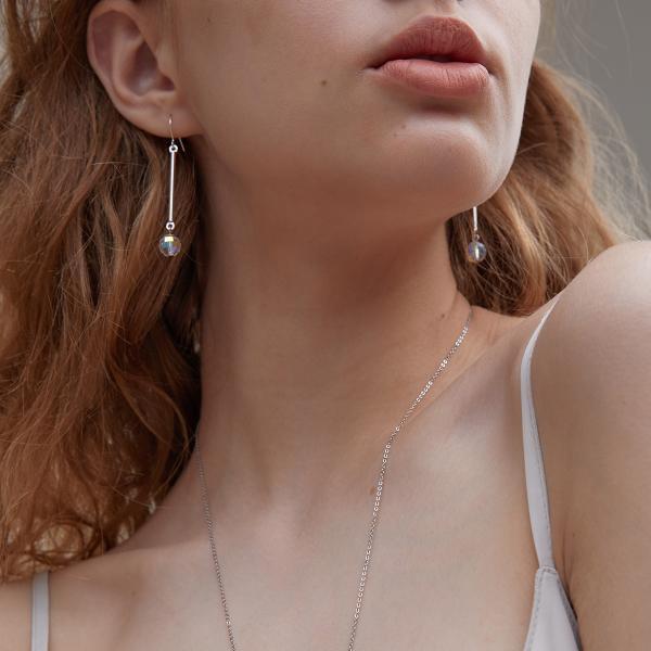 마티아스 Crystal AB Earring - Silver