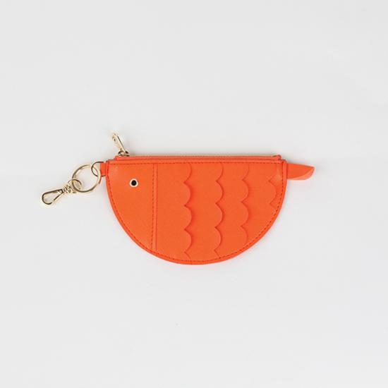 오운유 첨벙첨벙 색깔 물고기 카드지갑 (오렌지)