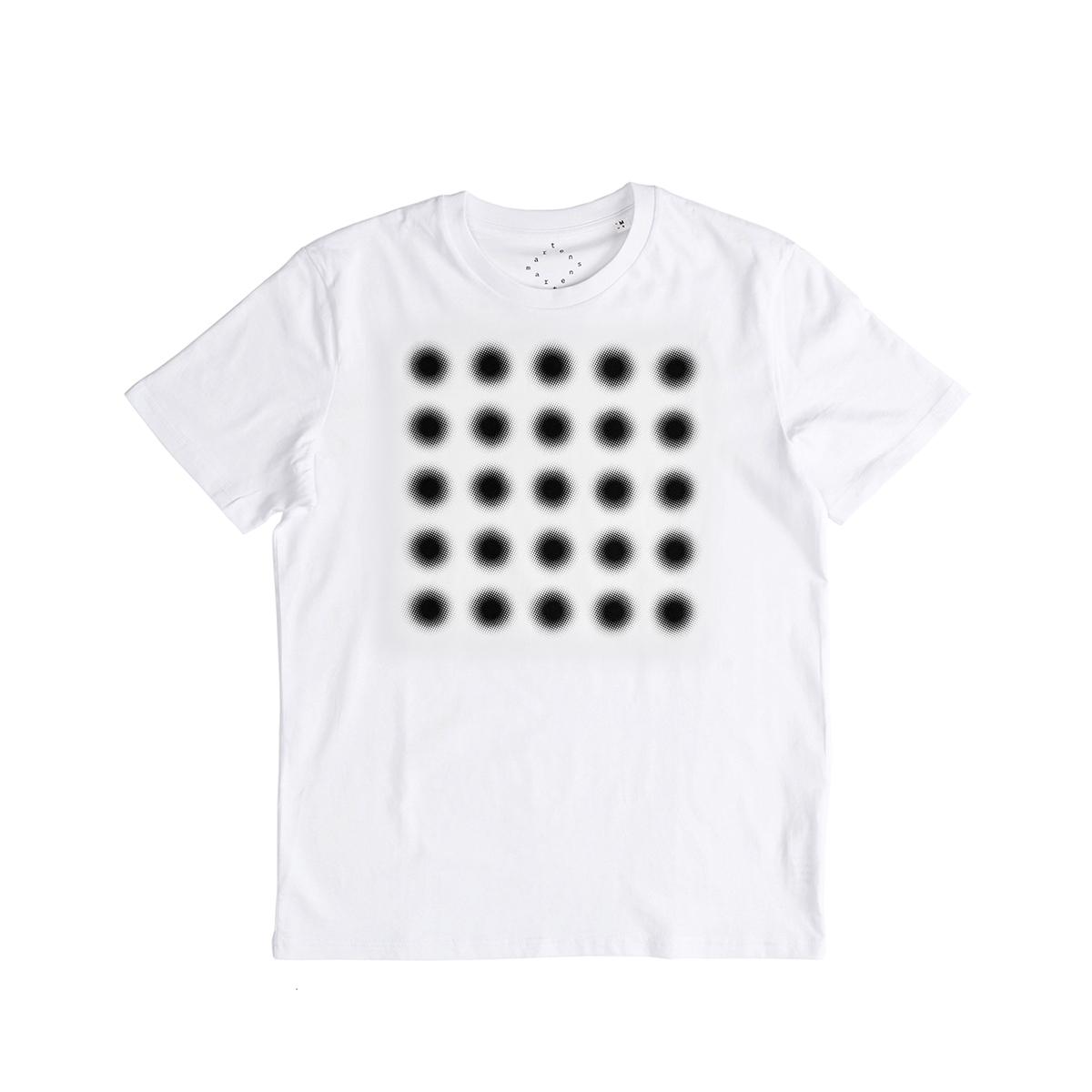 플랫폼엘 martens and martens t-shirt with printed dots (black, M)