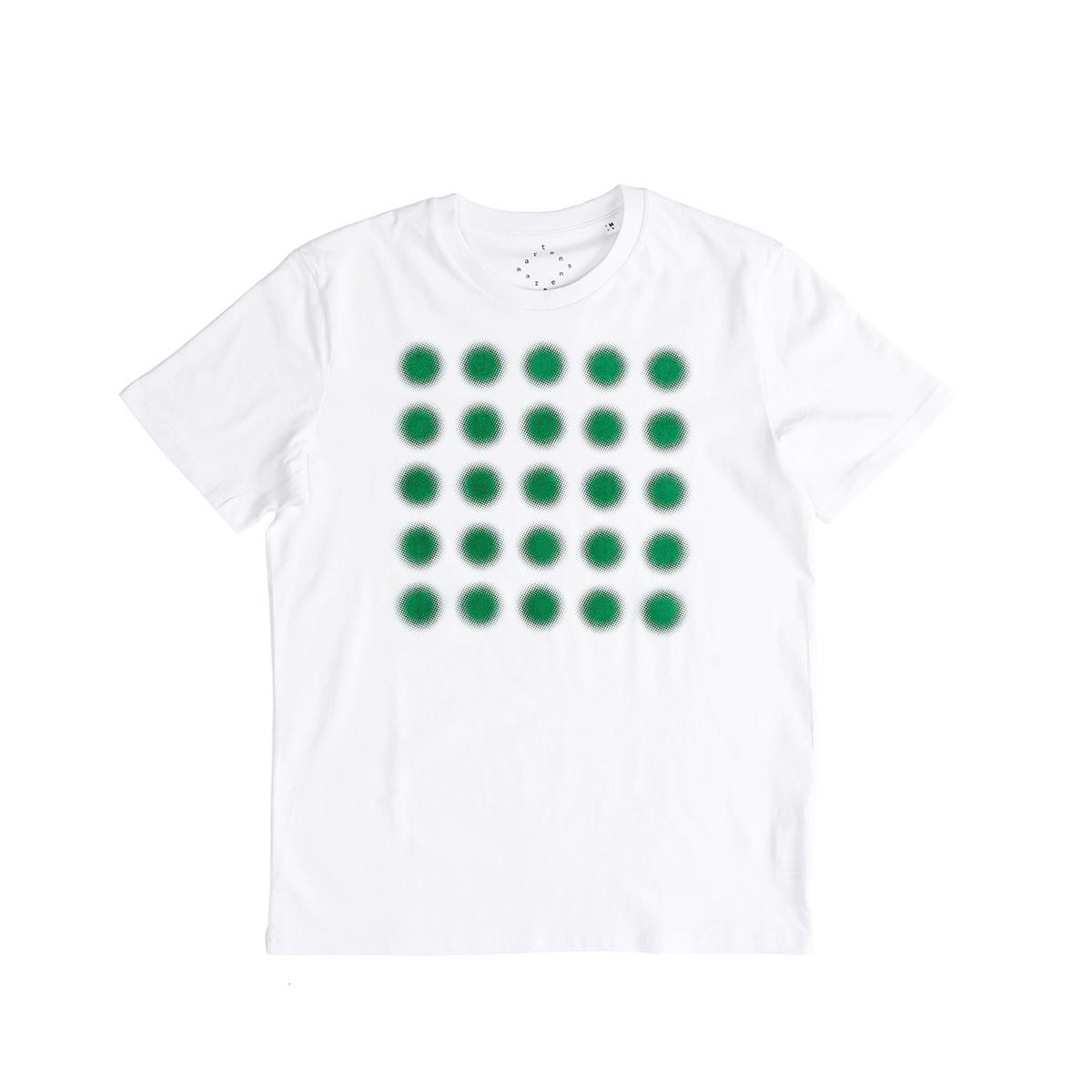 플랫폼엘 martens and martens t-shirt with printed dots (green, L)
