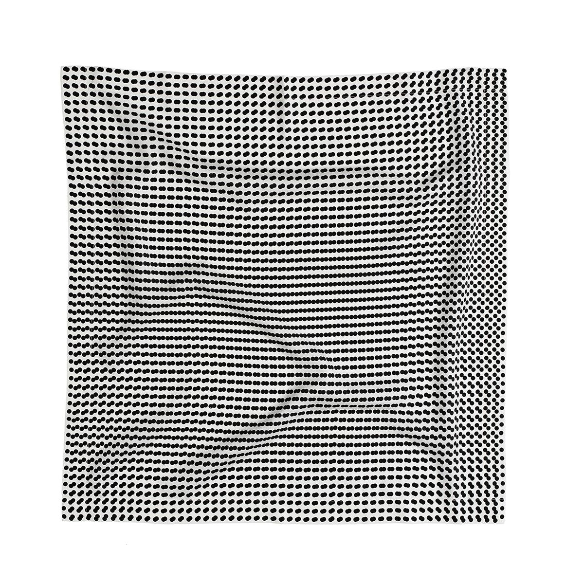 플랫폼엘 martens and martens double silk screen-printed scarf (black&black)