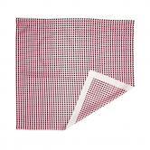 플랫폼엘 martens and martens double silk screen-printed scarf (black&pink)